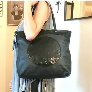 Coach Laura Black Leather Tote Excellent!